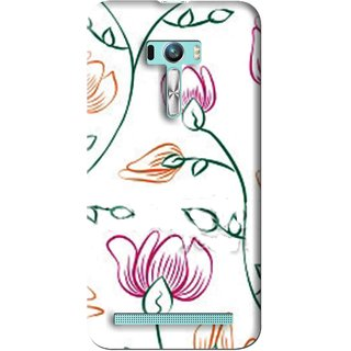 Snooky Printed Flower Sketch Mobile Back Cover For Asus Zenfone Selfie - Multi