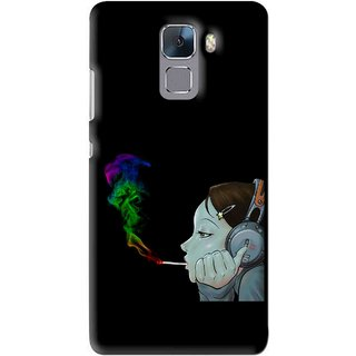 Snooky Printed Color Of Smoke Mobile Back Cover For Huawei Honor 7 - Multi