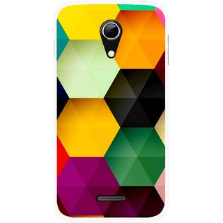 Snooky Printed Hexagon Mobile Back Cover For Micromax A114 - Multicolour