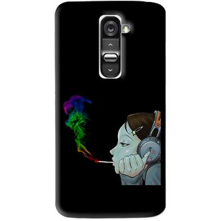 Snooky Printed Color Of Smoke Mobile Back Cover For Lg G2 Mini - Multi