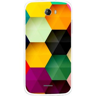 Snooky Printed Hexagon Mobile Back Cover For Micromax Bolt A068 - Multicolour