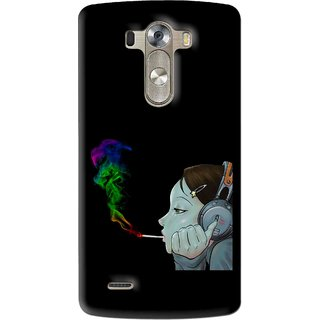 Snooky Printed Color Of Smoke Mobile Back Cover For Lg G3 - Multi