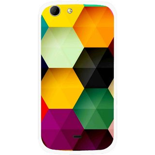 Snooky Printed Hexagon Mobile Back Cover For Micromax Canvas 4 A210 - Multicolour