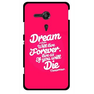 Snooky Printed Live the Life Mobile Back Cover For Sony Xperia SP - Multicolour