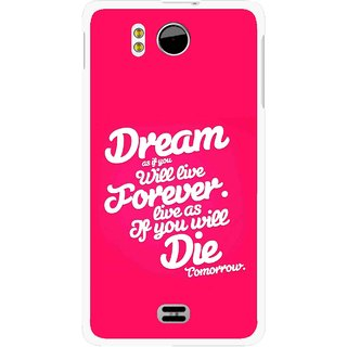Snooky Printed Live the Life Mobile Back Cover For Micromax Canvas DOODLE A111 - Multicolour