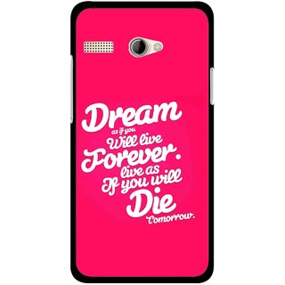 Snooky Printed Live the Life Mobile Back Cover For Intex Aqua 3G Pro - Multicolour