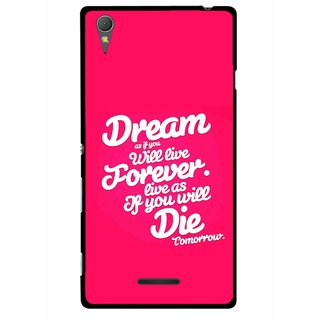 Snooky Printed Live the Life Mobile Back Cover For Sony Xperia T3 - Multicolour