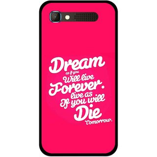 Snooky Printed Live the Life Mobile Back Cover For Intex Aqua Y2 Pro - Multicolour