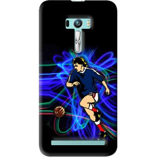Snooky Printed Football Passion Mobile Back Cover For Asus Zenfone Selfie - Multi