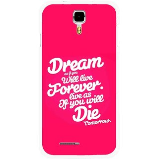 Snooky Printed Live the Life Mobile Back Cover For Micromax Canvas Juice A177 - Multicolour