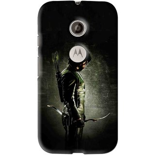 Snooky Printed Hunting Man Mobile Back Cover For Motorola Moto E2 - Multi