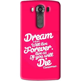 Snooky Printed Live the Life Mobile Back Cover For Lg V10 - Multi