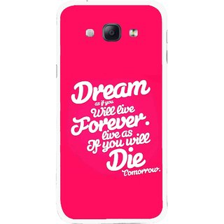 Snooky Printed Live the Life Mobile Back Cover For Samsung Galaxy A8 - Multicolour