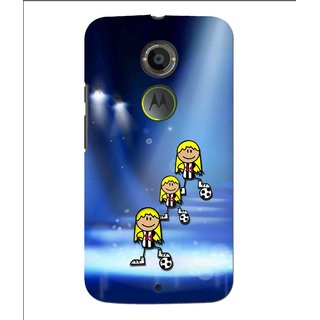 Snooky Printed Girls On Top Mobile Back Cover For Moto X 2nd Gen. - Multi