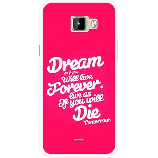 Snooky Printed Live the Life Mobile Back Cover For Micromax Canvas Nitro A310 - Multicolour