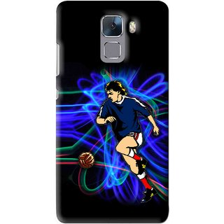 Snooky Printed Football Passion Mobile Back Cover For Huawei Honor 7 - Multi