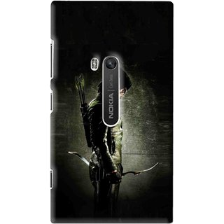 Snooky Printed Hunting Man Mobile Back Cover For Nokia Lumia 920 - Multi