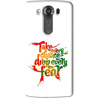 Snooky Printed Drop Fear Mobile Back Cover For Lg V10 - Multi