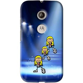 Snooky Printed Girls On Top Mobile Back Cover For Motorola Moto E2 - Multi