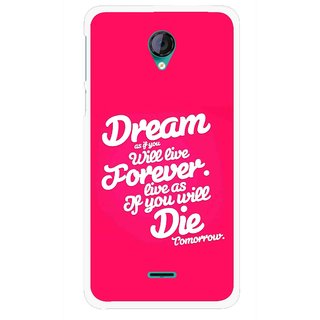 Snooky Printed Live the Life Mobile Back Cover For Micromax Canvas Unite 2 - Multicolour