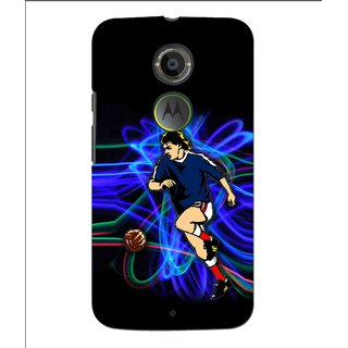 Snooky Printed Football Passion Mobile Back Cover For Moto X 2nd Gen. - Multi