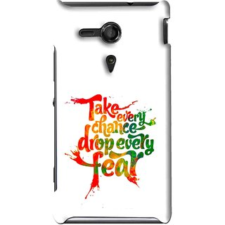 Snooky Printed Drop Fear Mobile Back Cover For Sony Xperia SP - Multi