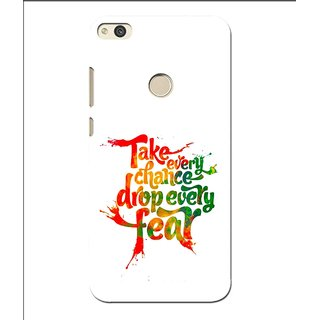 Snooky Printed Drop Fear Mobile Back Cover For Huawei P8 Lite (2017) - Multi