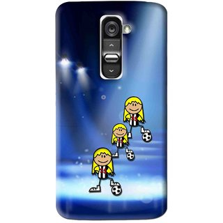 Snooky Printed Girls On Top Mobile Back Cover For Lg G2 Mini - Multi