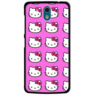 Snooky Printed Pink Kitty Mobile Back Cover For HTC Desire 326G - Multicolour