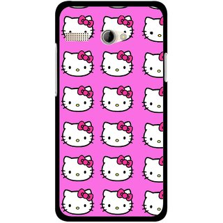 Snooky Printed Pink Kitty Mobile Back Cover For Intex Aqua 3G Pro - Multicolour