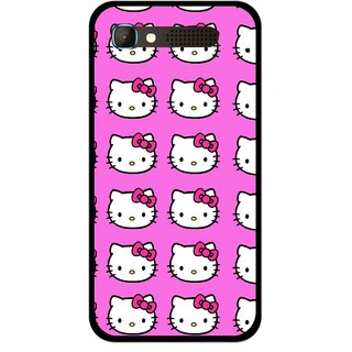 Snooky Printed Pink Kitty Mobile Back Cover For Intex Aqua Y2 Pro - Multicolour