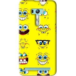 Snooky Printed Cartoon faces Mobile Back Cover For Asus Zenfone Selfie - Multi