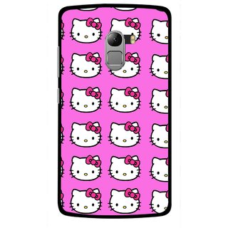 Snooky Printed Pink Kitty Mobile Back Cover For Lenovo K4 Note - Multicolour
