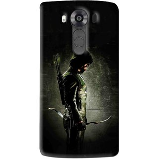 Snooky Printed Hunting Man Mobile Back Cover For Lg V10 - Multi