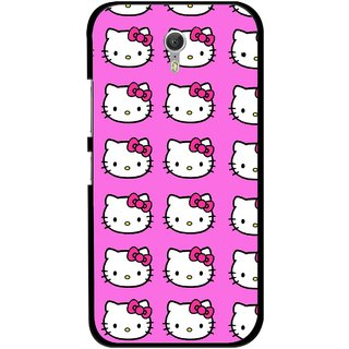Snooky Printed Pink Kitty Mobile Back Cover For Lenovo Zuk Z1 - Multicolour
