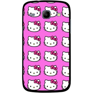 Snooky Printed Pink Kitty Mobile Back Cover For Samsung Galaxy Core - Multicolour