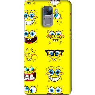 Snooky Printed Cartoon faces Mobile Back Cover For Huawei Honor 7 - Multi