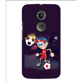 Snooky Printed My Game Mobile Back Cover For Moto X 2nd Gen. - Multi