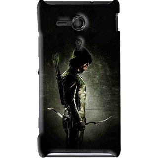 Snooky Printed Hunting Man Mobile Back Cover For Sony Xperia SP - Multi