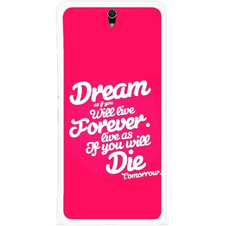 Snooky Printed Live the Life Mobile Back Cover For Sony Xperia C5 - Multicolour