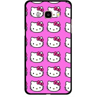 Snooky Printed Pink Kitty Mobile Back Cover For Samsung Galaxy J5 (2016) - Multicolour