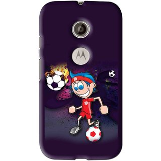 Snooky Printed My Game Mobile Back Cover For Motorola Moto E2 - Multi