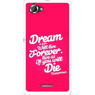 Snooky Printed Live the Life Mobile Back Cover For Sony Xperia L - Multicolour