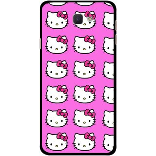 Snooky Printed Pink Kitty Mobile Back Cover For Samsung Galaxy J7 Prime - Multicolour