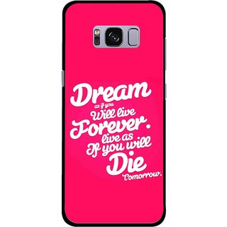 Snooky Printed Live the Life Mobile Back Cover For Samsung Galaxy S8 Plus - Multicolour