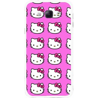 Snooky Printed Pink Kitty Mobile Back Cover For Samsung Galaxy A8 - Multicolour