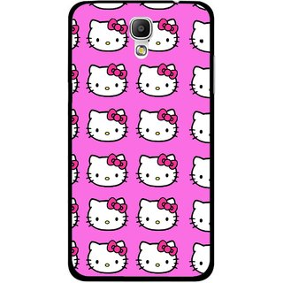 Snooky Printed Pink Kitty Mobile Back Cover For Samsung Galaxy Mega 2 - Multicolour