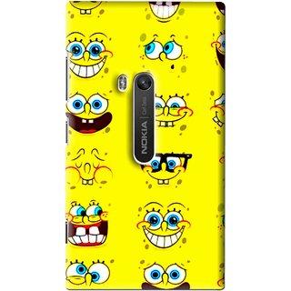 Snooky Printed Cartoon faces Mobile Back Cover For Nokia Lumia 920 - Multi