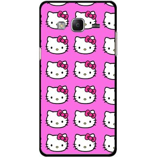 Snooky Printed Pink Kitty Mobile Back Cover For Samsung Tizen Z3 - Multicolour