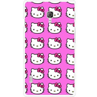 Snooky Printed Pink Kitty Mobile Back Cover For Lg Optimus L7 II P715 - Multicolour